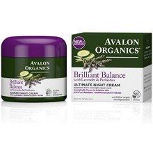 Avalon Organics Brilliant Balance with Lavender & Prebiotics Ultimate Night Cream 2 oz (Pack of 2)