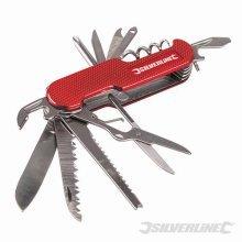 Silverline Pocket Knife 14-function 75mm -