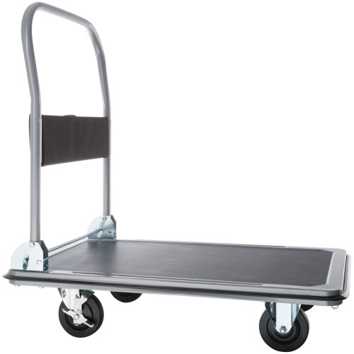 Folding Trolley with Brakes 300 kg black