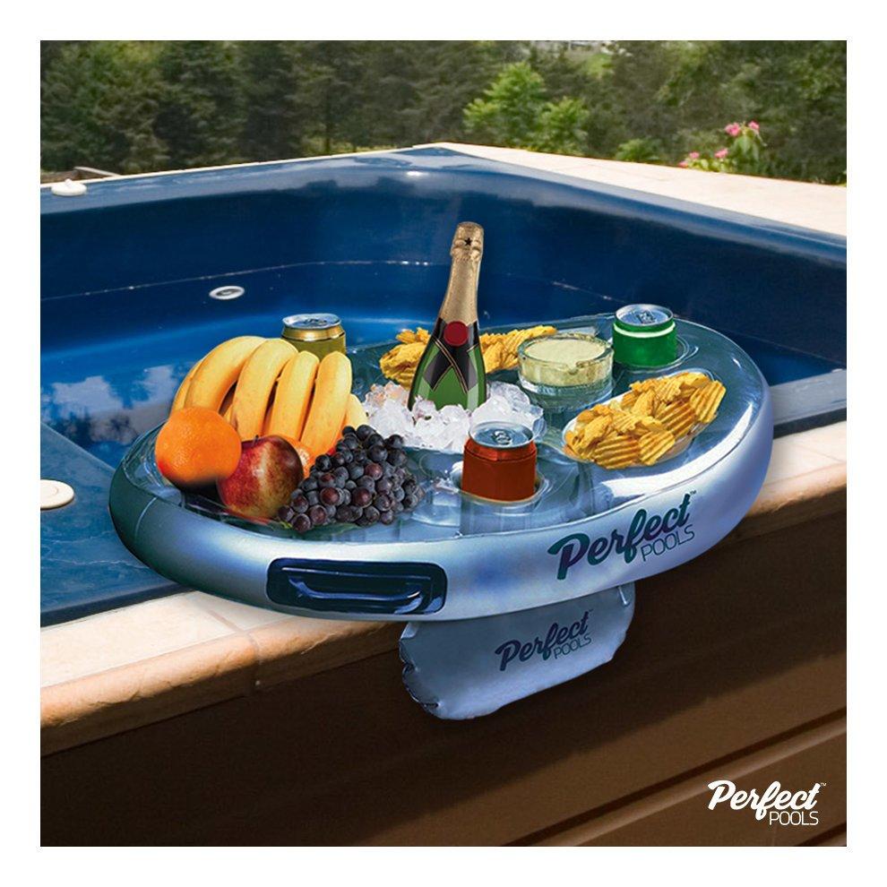 Perfect Pools Spa Bar   Inflatable Hot Tub Tray For Drinks U0026 Snacks. U003e