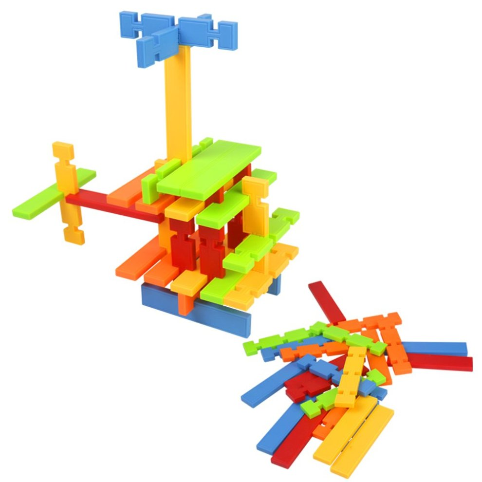 Nuheby Building Toys Building Blocks 50pcs Kids Construction Toys for Girls Boys Stacking Blocks Educational Toys for 3 4 5Years Old on OnBuy