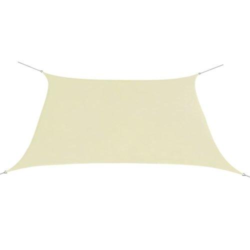 vidaXL Sunshade Sail Oxford Fabric Square 2x2 m Cream
