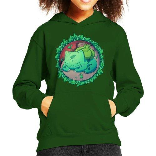 Bulbasaur Hidden Grass Ball Pokemon Kid's Hooded Sweatshirt