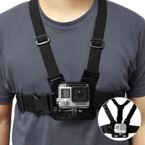 Adjustable Elastic Chest Strap Harness Mount for GoPro HD Hero 2 3 3+4 5 Camera