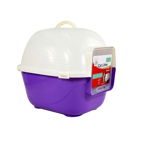 "High-quality  Indoor Training Pet Potty Cat litter Basin(19.5""*16""*16.5""),Violet"