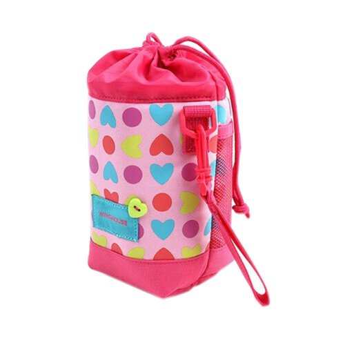 Lovely Baby Bottle Tote Bag/Keep Warm (19*10*10CM), Colorful Heart