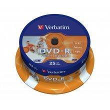 Verbatim DVD-R Wide Inkjet Printable ID Brand 4.7GB DVD-R AZO 25pc(s)