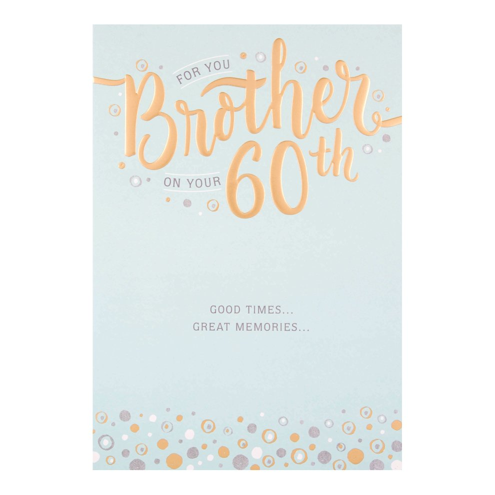 Hallmark Brother 60th Birthday Card 'Great Memories' - Medium