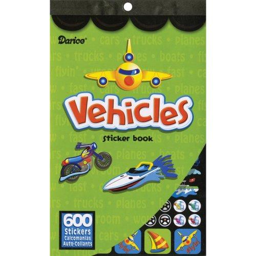 """Sticker Book 9.5""""X6""""-Vehicles 600/Pkg"""