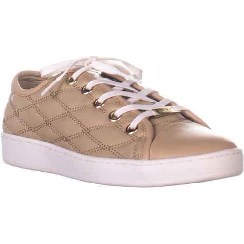 DKNY Brayden Binding Fashion Sneakers, Tan, 6 UK