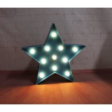 Blue Star Light With 11 LED White Lights Christmas Decoration