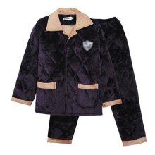 Men Pajamas Warm Thick Cotton Winter Suit Modern Set Sleepwear/Nightwear Clothes for Home, C4