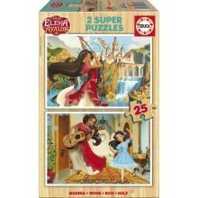 2 Wooden Jigsaw Puzzles - Elena d'Avalor