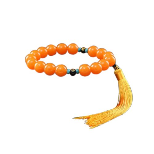Chinese Orange Beaded Resin Home Car Decorative Buddha Beads Ornaments for Good Luck