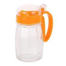 620ML Creative Kitchen Oil / Vinegar Cruet Square Glass Bottle Orange
