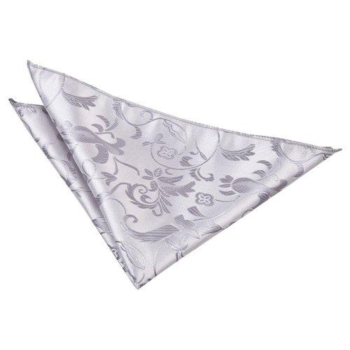 Silver Floral Pocket Square