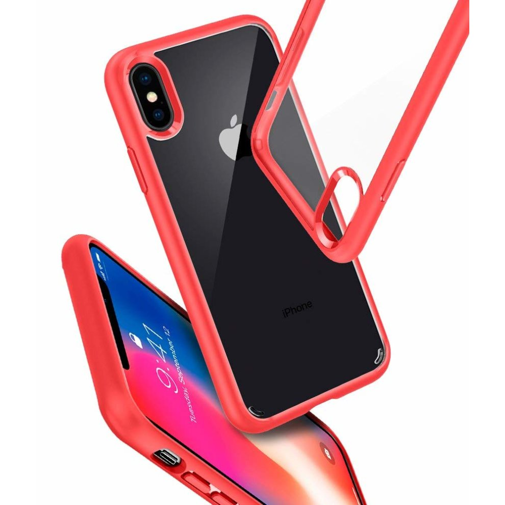 the latest b71e1 8869a Spigen Ultra Hybrid iPhone XS Case, Air Cushion - Red