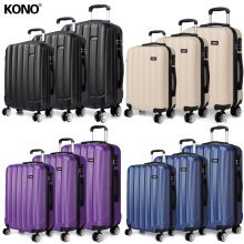 KONO 3PCS Luggage Suitcase Set Trolley Case Bag 20 24 28 Inch