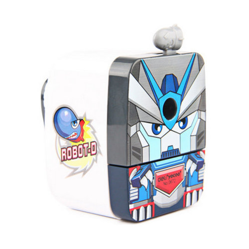 Cute Warrior Manual Pencil Sharpener for Office and Classroom ( White )
