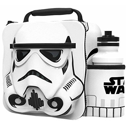 St362 - 3d Lunch Bag With Bottle - Storm Trooper - Star Wars Thermal Set Storm -  star wars 3d lunch bottle bag thermal set stormtrooper sports