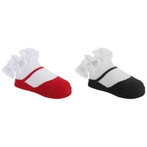 Baby Girls Glitter Frilly Socks (One Pair)