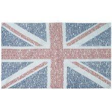 Union Jack Flag London Street Place Names Tea Towel Souvenir Gift GB UK UJ Typographic