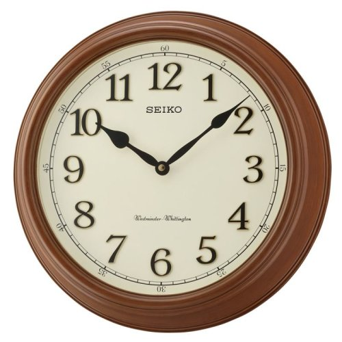 Seiko QXD214B Westminster/Whittington Dual Chime Wall Clock