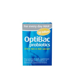 OptiBac Probiotics For Every Day Max Strength, Pack of 30 Capsules