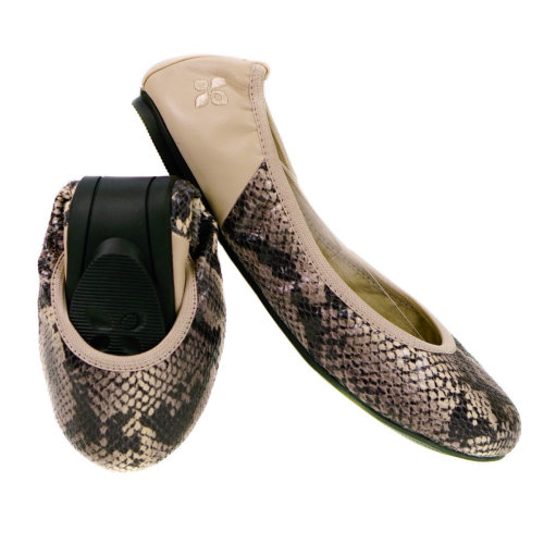 778d9df51 Butterfly Twists Foldable Ladies Flat Shoes Stone on OnBuy