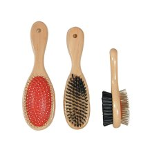 Wooden Handle Double Sided Brush Lge