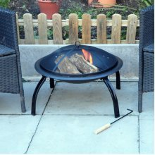 Outdoor Garden Patio Firepit Heater - Fire Pit Kingfisher Bbq Steel Black Mesh -  patio garden fire heater outdoor pit kingfisher bbq firepit steel