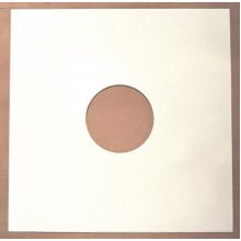 """Pack of 50 - 7"""" White Paper Record Sleeves"""