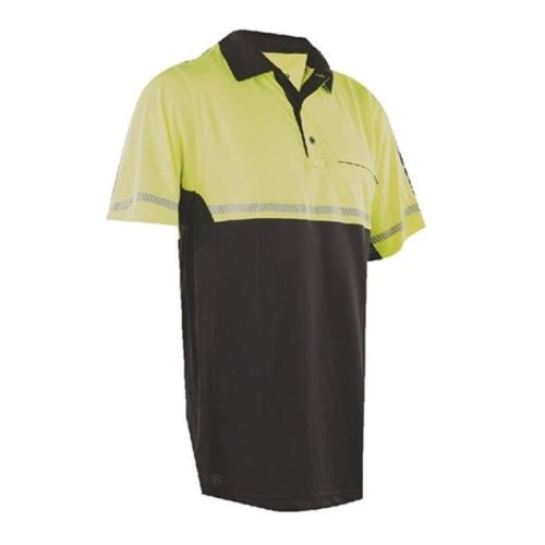 Tru-Spec TSP-4324006 24-7 Bike Performance Polo Shirt with Reflective Tape, Hi-Vis Yellow - Extra Large