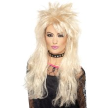 Smiffy's 80's Long Mullet Wig - Blonde