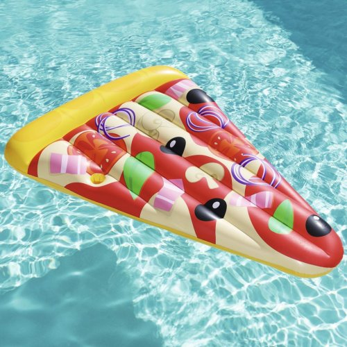 Bestway Inflatable Floating Lounger Pizza Party 188x130cm Swimming Pool Float