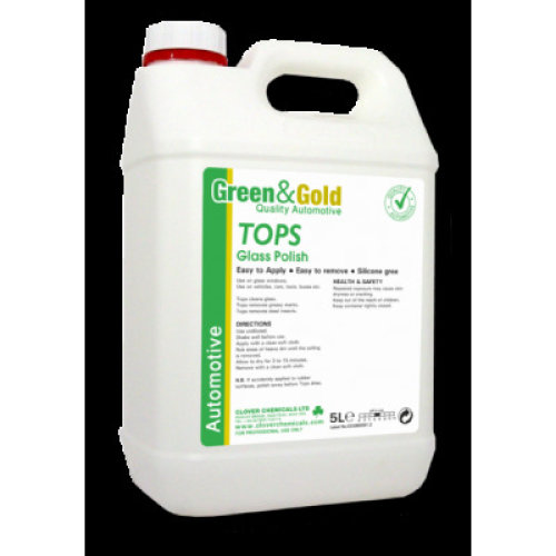 Clover Tops, Green & Gold Automotive CAR  Glass Cleaner for interior/Exterior 5L