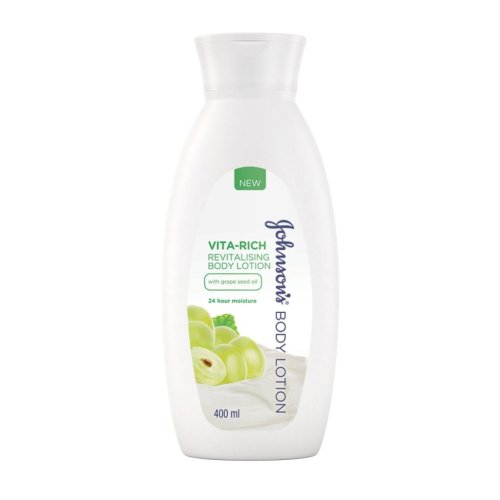 Johnson's Body Care Vita-Rich Revitalising Body Lotion, with Grapeseed Oil