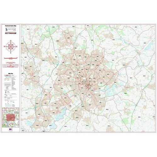 Postcode City Sector Map  - Nottingham