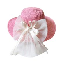 Children Folding Beach Hat UV Girls Summer Sunscreen Large Brimmed Hat Child