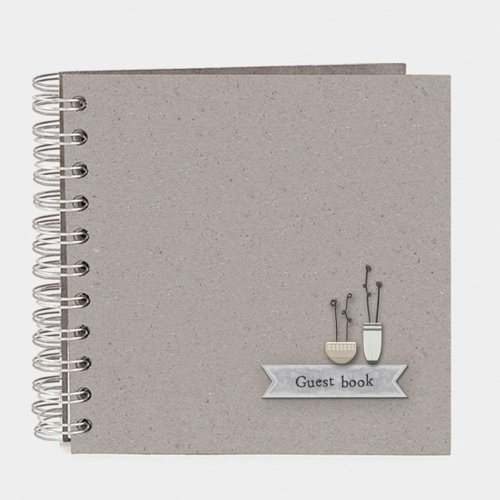 East of India Guest book with Flower Pots