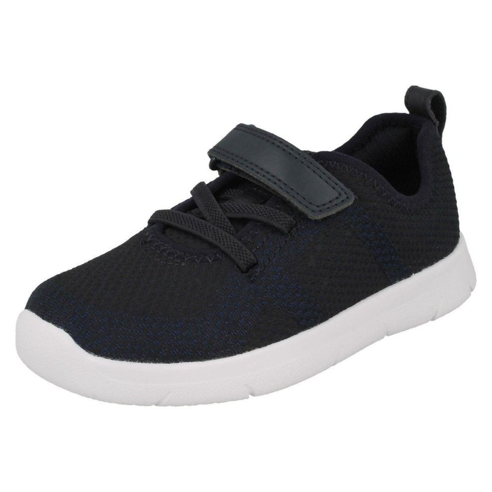 BOYS INFANT CLARKS INF PODIUM CICA HOOK /& LOOP CASUAL SHOES SPORTS TRAINERS SIZE
