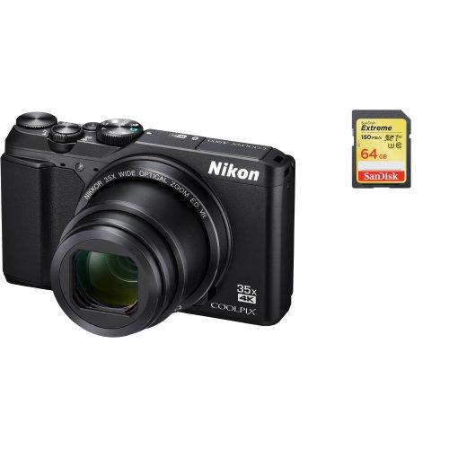 NIKON A900 Black + SanDisk Extreme 64G SD card