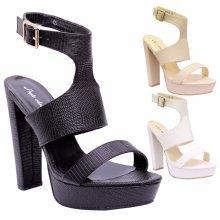 Women High Heel Cutout Platform Gladiator Sandals