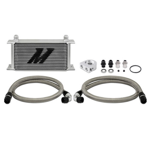 Mishimoto MMOC-UL Universal Oil Cooler Kit, 19-Row, Silver