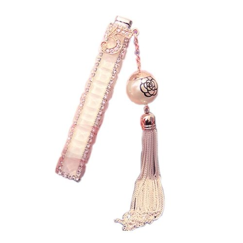 Fine Tassels Rhinestone Cigarette Lighter Portable Lighter, White