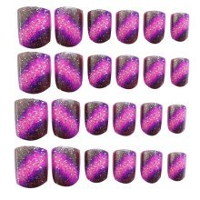 24 Pcs Fashion Nails Stickers Beautiful Nail Decorations False Nails Tips [N]
