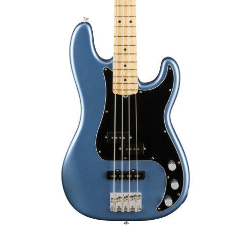 Fender American Performer Precision Bass Guitar, Satin Lake Placid Blue, Maple