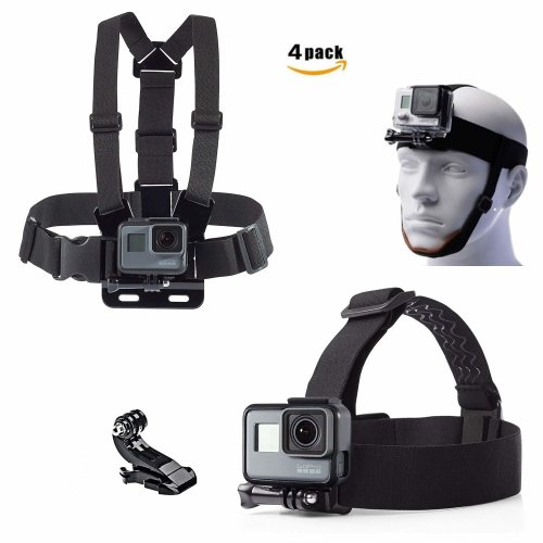 micros2u (Twin Pack) Gopro Chest Chesty Harness Belt Strap Mount and Headstrap (with removable chin strap) for all Gopro Hero 6, 5, 4, 3, 2....