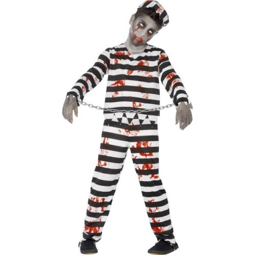 (Large) Kids Zombie Convict Prisoner Costume | Halloween