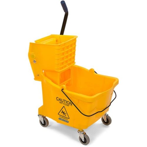 CFS 3690404 8.75 gal Side Press Bucket with Side Press Wringer Combo - Yellow